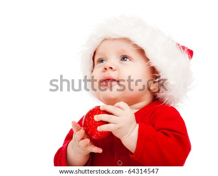 Portrait of little boy in Christmas costume - stock photo