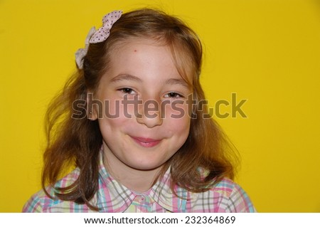 Portrait of little girl - stock photo