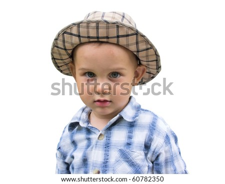 Portrait of little kid - stock photo