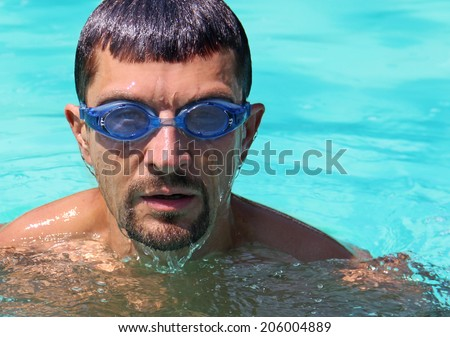 portrait of male swimmers