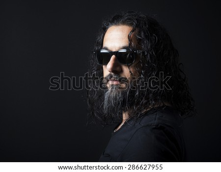 Portrait of man - stock photo