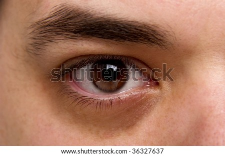 portrait of man's face - stock photo