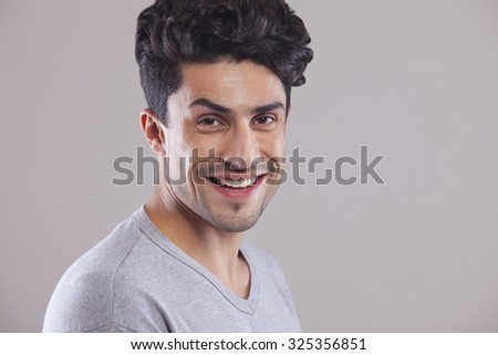 Portrait of man smiling