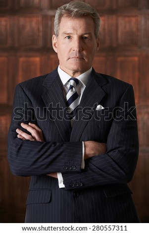 Portrait Of Mature Businessman In Boardroom - stock photo
