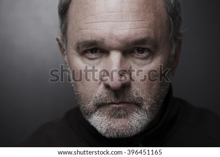 Portrait of mature man fifty years - stock photo