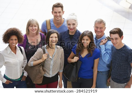 Portrait Of Mature Students On Further Education Course - stock photo