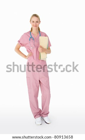Portrait of medical professional - stock photo