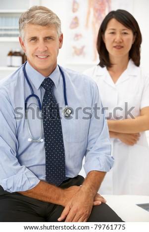 Portrait of medical professionals - stock photo