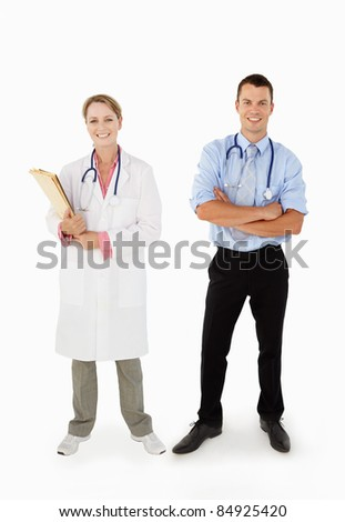 Portrait Of Medical Staff In Studio - stock photo