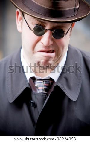 Portrait of  men - stock photo