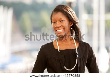 Portrait of mid adult business woman. Horizontally framed shot.