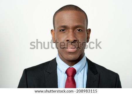 Portrait of middle aged businessman, isolated over grey - stock photo