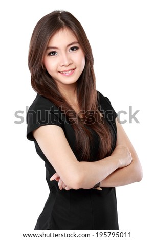 portrait of modern business woman looking confident and smiling