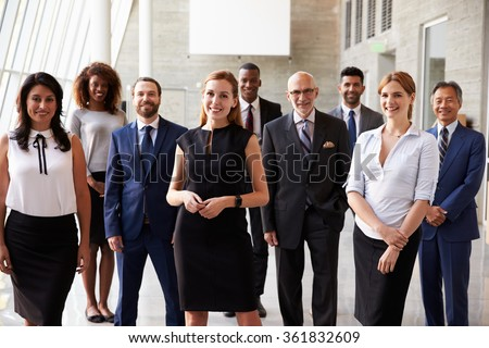 Portrait Of Multi-Cultural Business Team In Office - stock photo