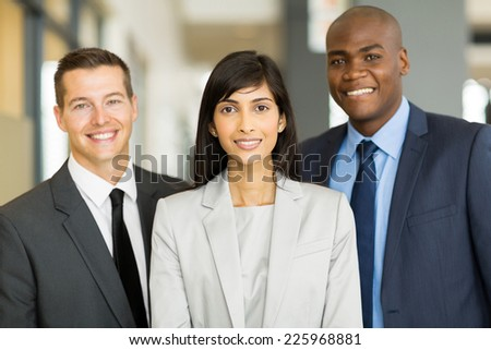 portrait of multicultural business executive in office - stock photo