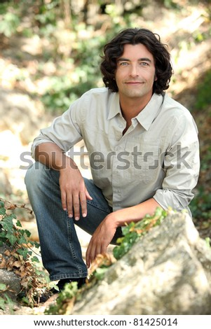 portrait of nature-lover - stock photo