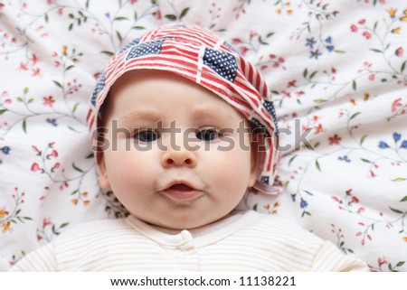 portrait of newborn - stock photo