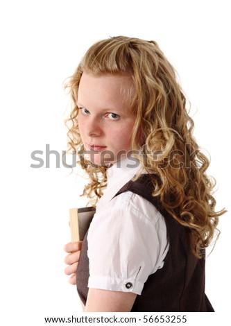 Portrait of nice girl - stock photo
