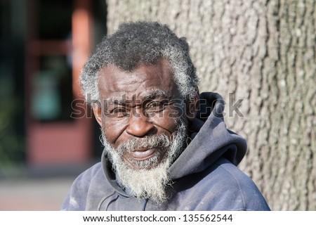 Elderly Black Man Portrait Old African A...