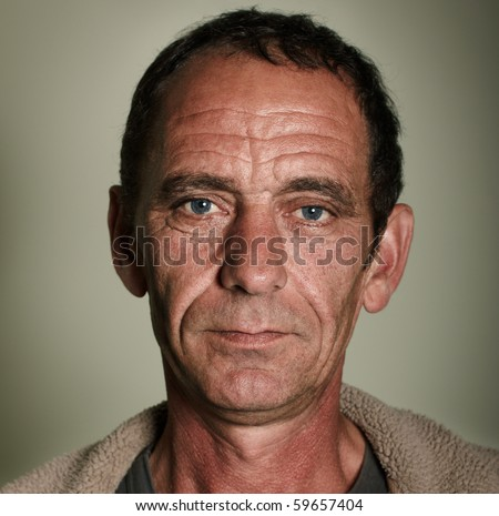 portrait of old man - stock photo