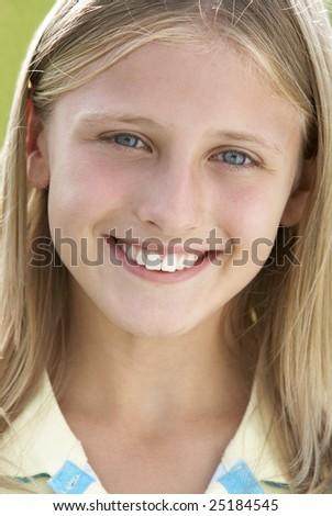 Portrait Of Pre-Teen Girl - stock photo