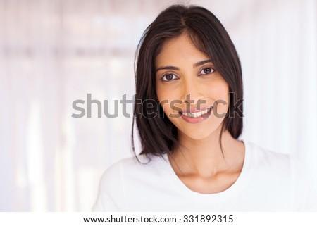 portrait of pretty indian woman closeup - stock photo