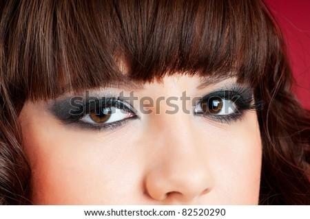 Portrait of Pretty Woman - stock photo