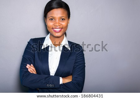 portrait of professional black businesswoman - stock photo