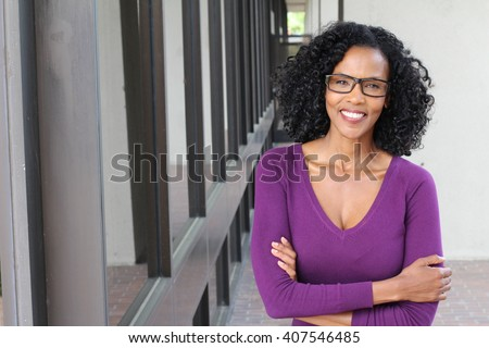 Portrait of professional black businesswoman - stock photo