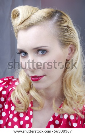 Portrait of retro woman