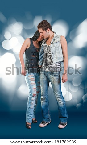 Portrait Of Romantic Couple