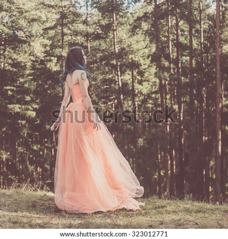Portrait of romantic woman  - stock photo