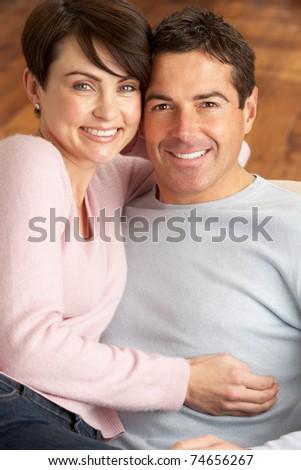 Portrait Of Romantic Young Couple - stock photo