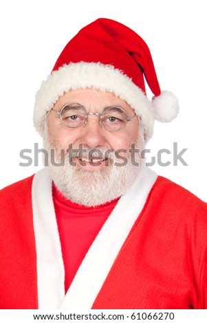 Portrait of Santa Claus isolated on white background