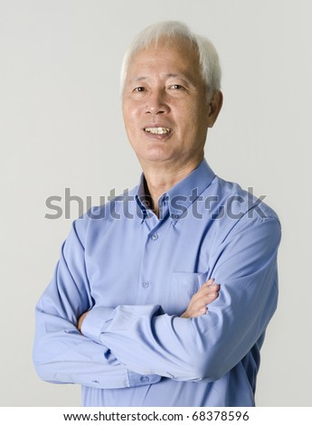 portrait of senior asian businss man - stock photo