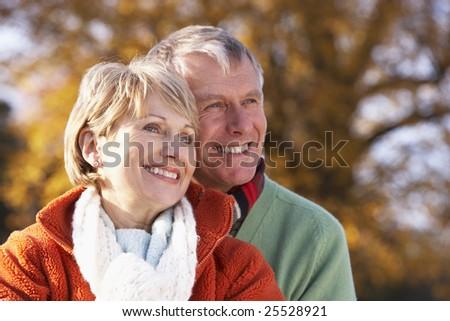 Portrait Of Senior Couple Hugging - stock photo