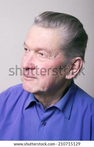 Portrait of senior man. - stock photo