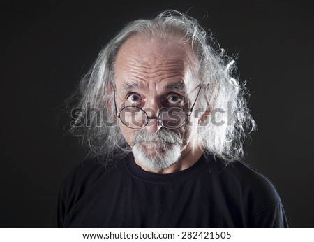 Portrait of senior man - stock photo