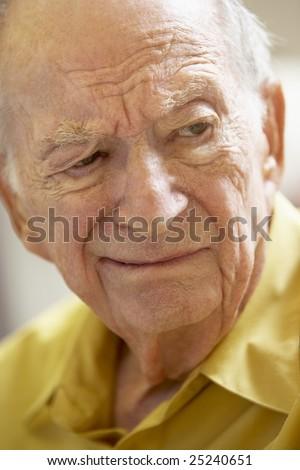 Portrait Of Senior Man Frowning - stock photo