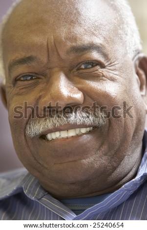 Portrait Of Senior Man Smiling At The Camera - stock photo