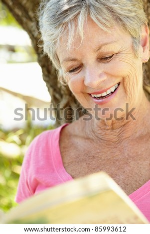 Portrait of senior woman - stock photo