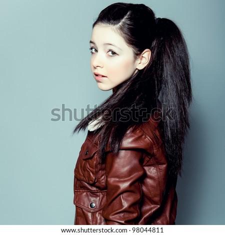 Portrait of sensual girl - stock photo