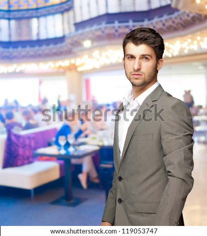 Portrait Of Serious Man, Indoors