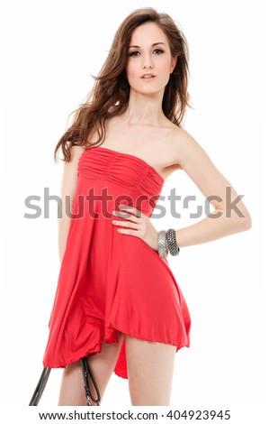 Portrait of sexy woman - stock photo