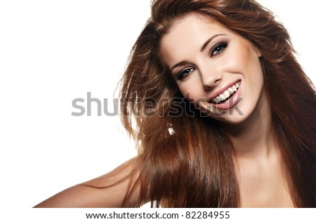 Portrait of sexy woman - stock photo