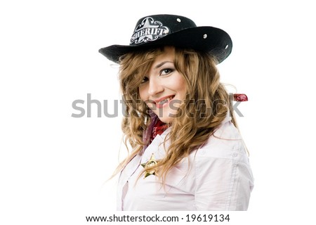 Portrait of sheriff - stock photo