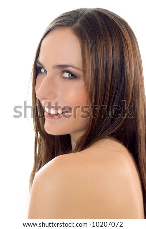 Portrait of smiling beautiful woman