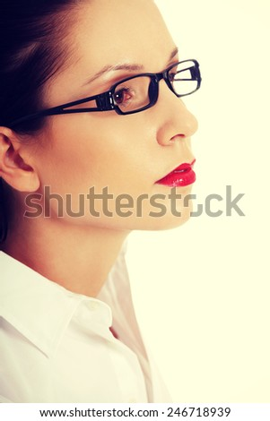 Portrait of smiling beautiful young business woman.