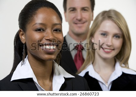 Portrait of smiling businesspeople