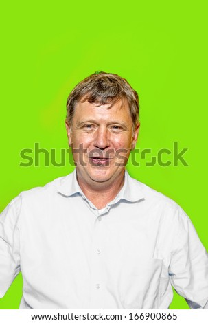 portrait of smiling happy caucasian man